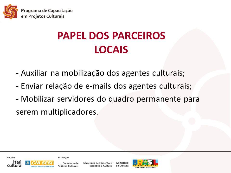 PAPEL DOS PARCEIROS LOCAIS