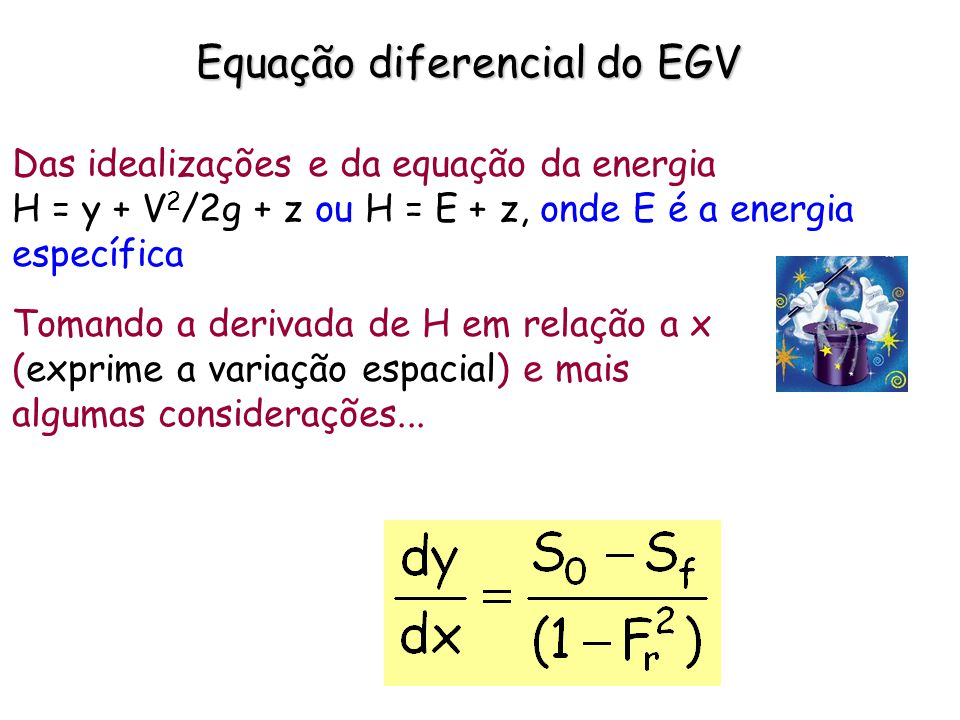 Equação diferencial do EGV