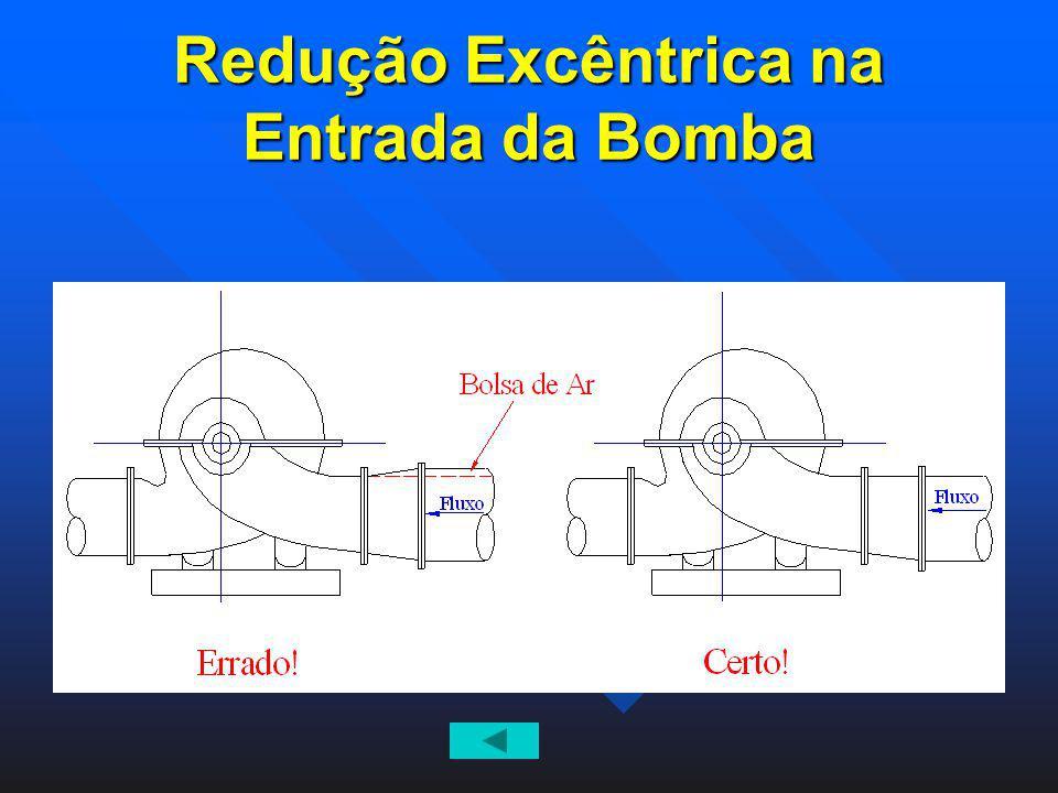 Redução Excêntrica na Entrada da Bomba