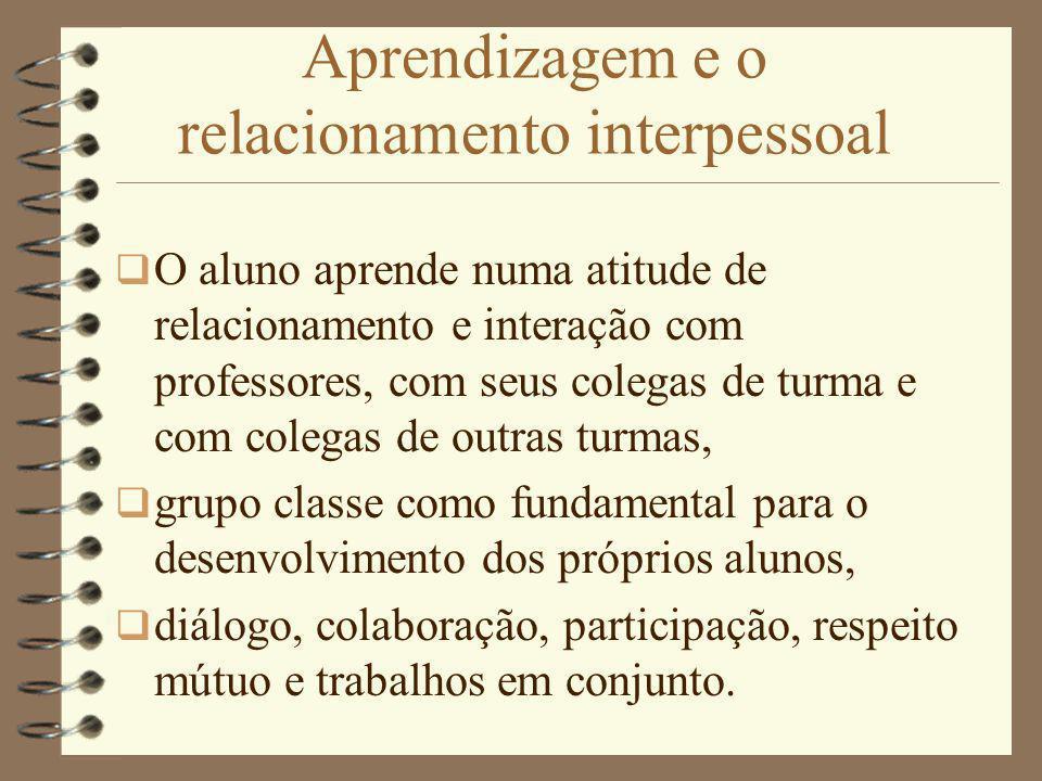 Aprendizagem e o relacionamento interpessoal