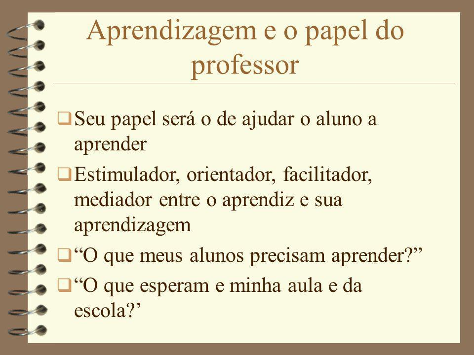 Aprendizagem e o papel do professor