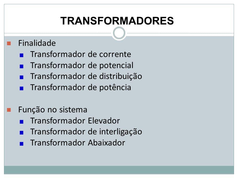 TRANSFORMADORES Finalidade Transformador de corrente