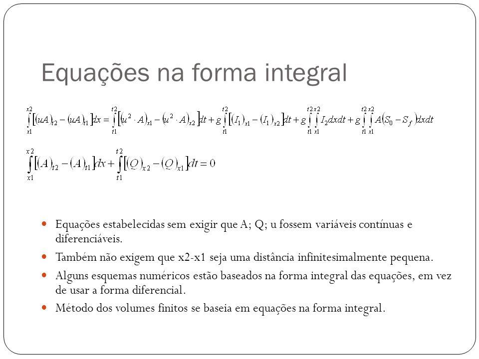 Equações na forma integral