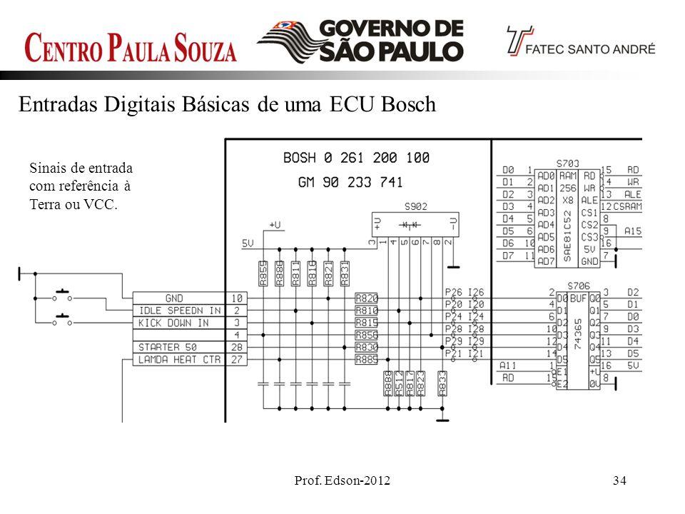 Entradas Digitais Básicas de uma ECU Bosch