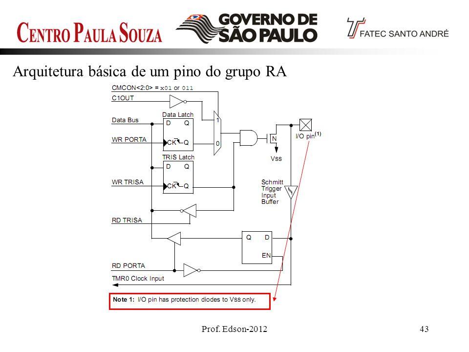 Arquitetura básica de um pino do grupo RA