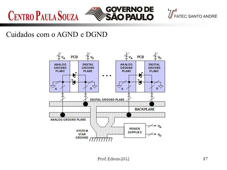 Cuidados com o AGND e DGND