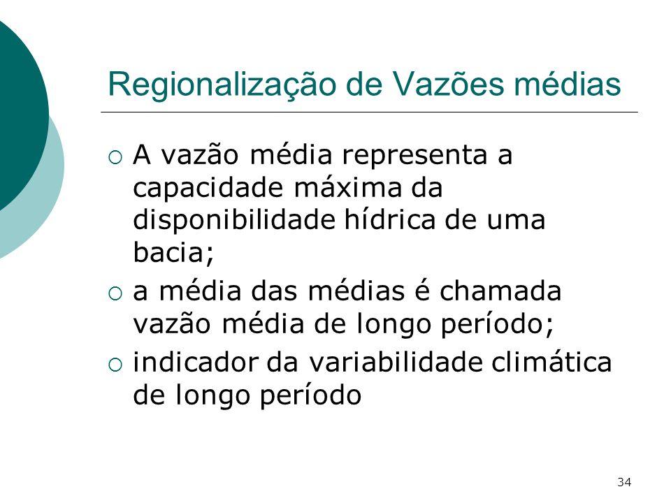 Regionalização de Vazões médias
