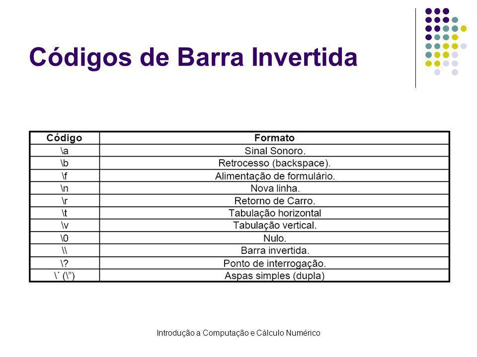 Códigos de Barra Invertida