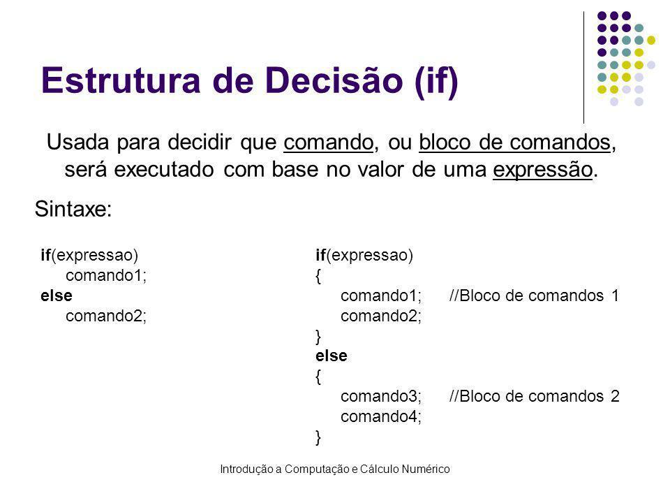 Estrutura de Decisão (if)