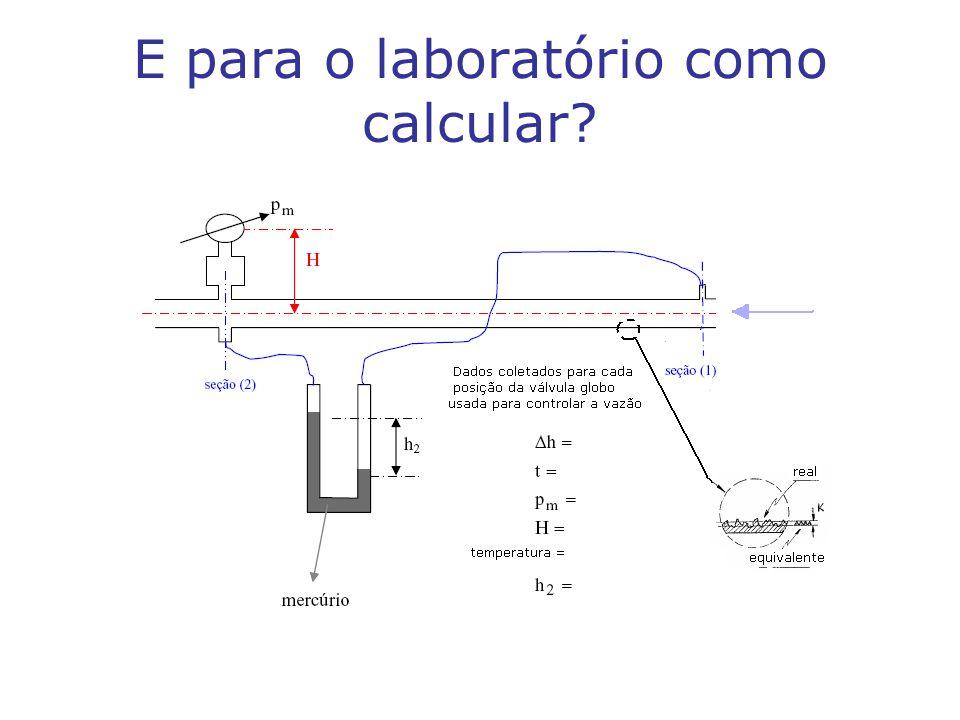 E para o laboratório como calcular