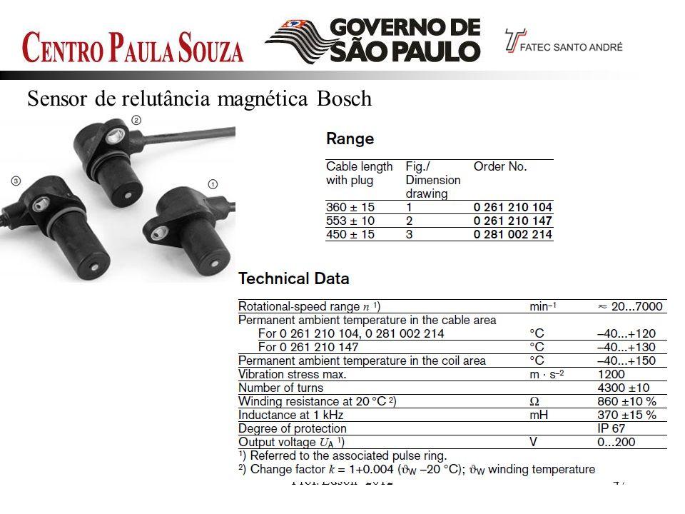 Sensor de relutância magnética Bosch
