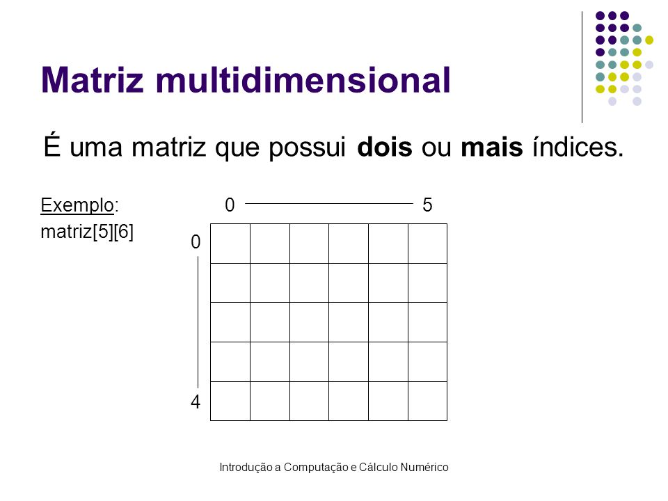 Matriz multidimensional