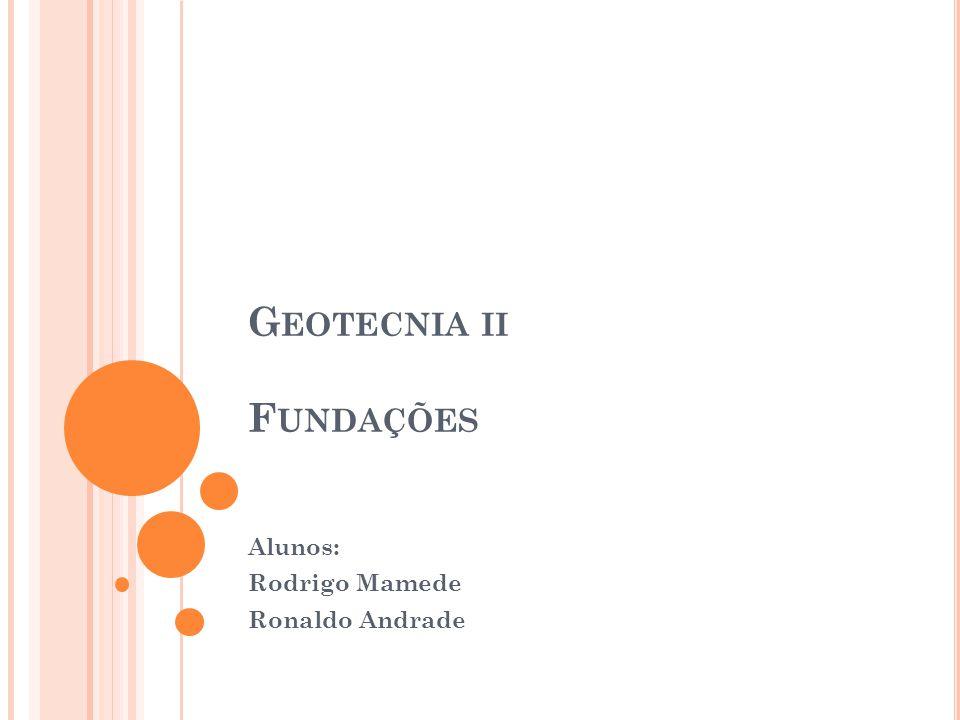 Geotecnia ii Fundações