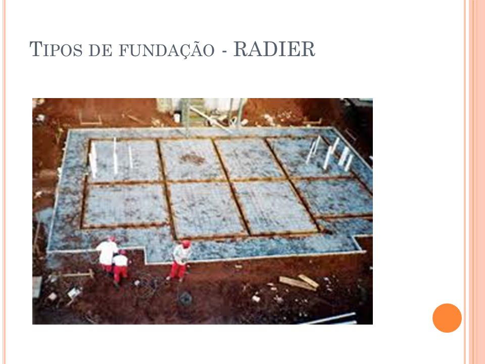Tipos de fundação - RADIER