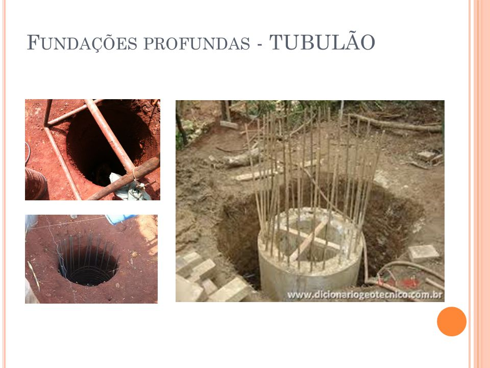 Fundações profundas - TUBULÃO