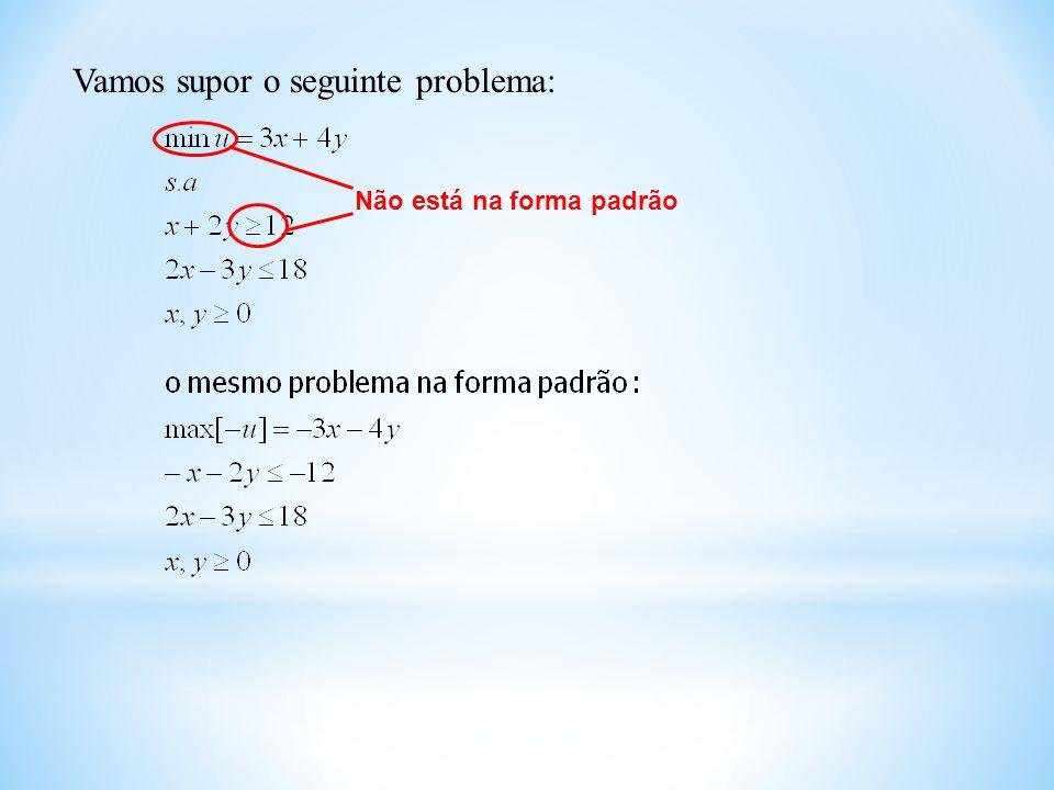 Vamos supor o seguinte problema: