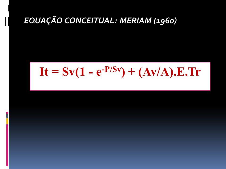 It = Sv(1 - e-P/Sv) + (Av/A).E.Tr