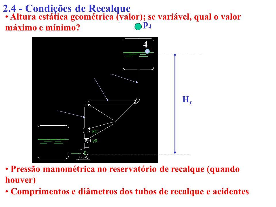 2.4 - Condições de Recalque