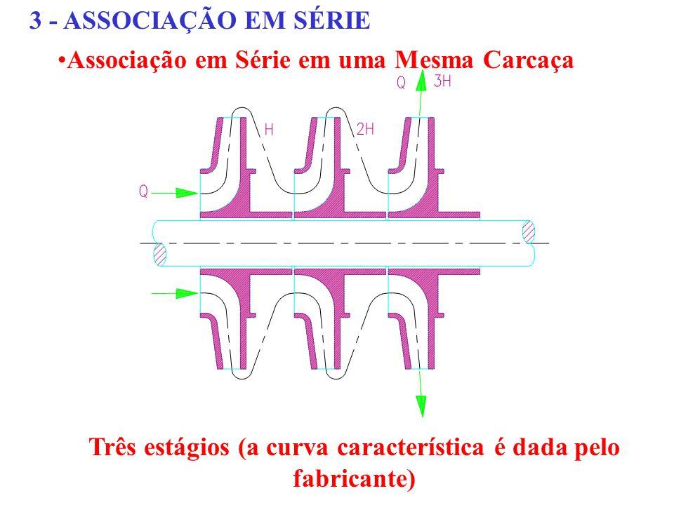 Três estágios (a curva característica é dada pelo fabricante)