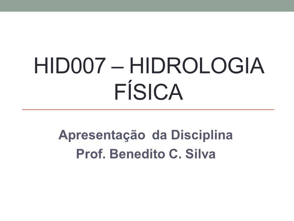 HID007 – Hidrologia Física