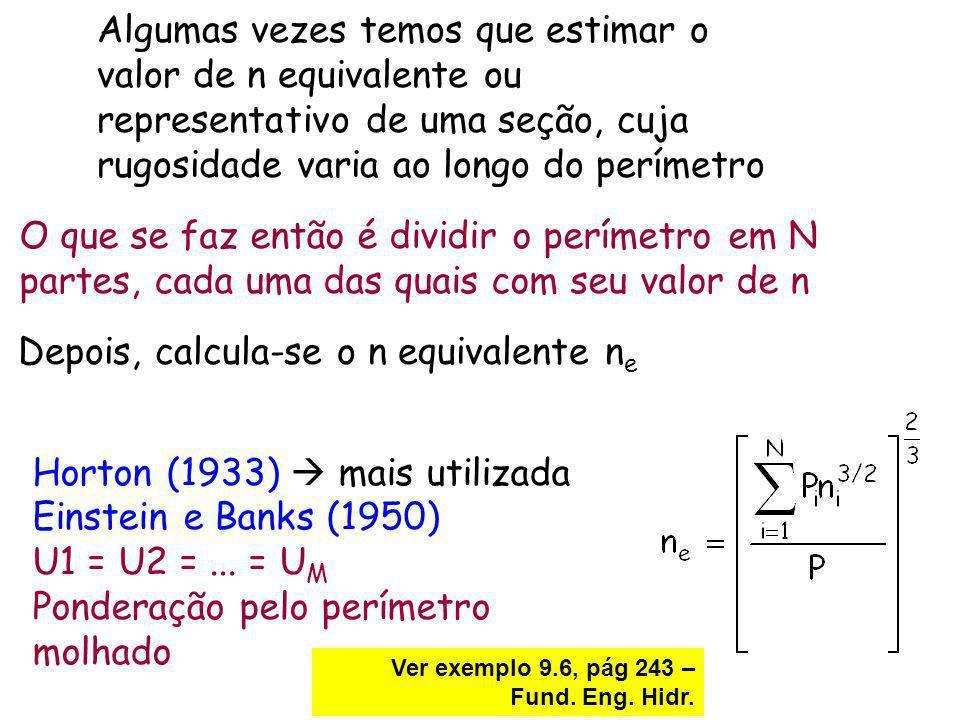 Depois, calcula-se o n equivalente ne