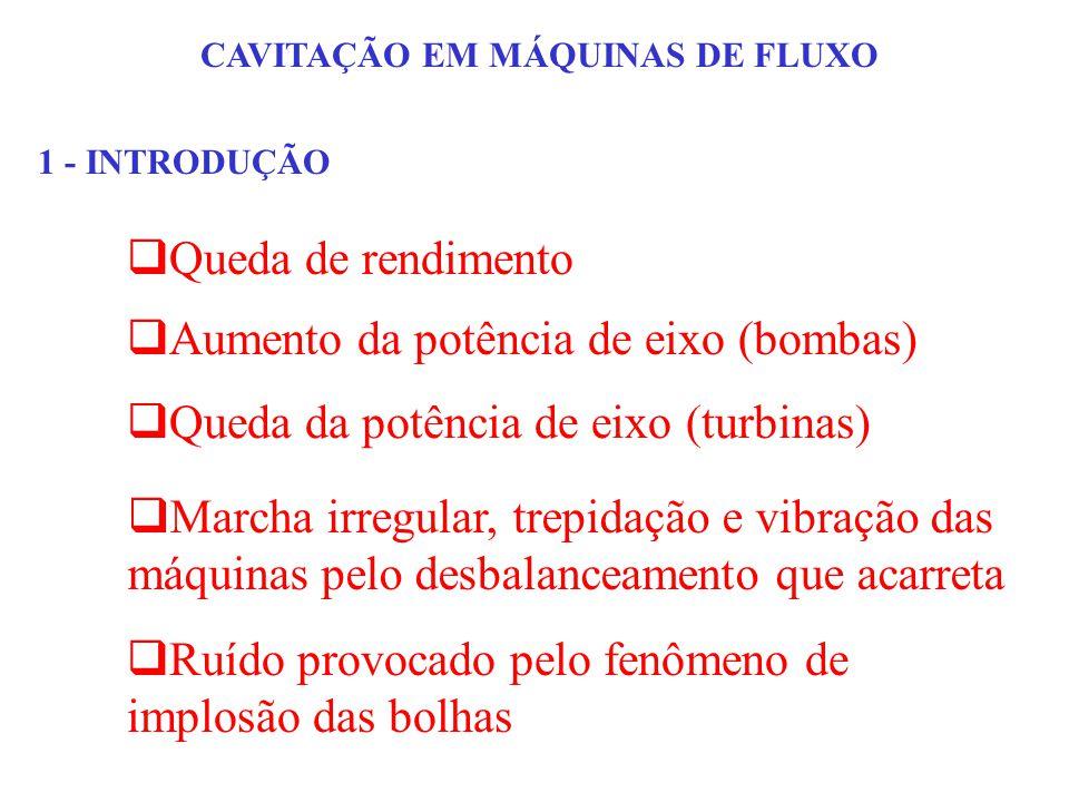 CAVITAÇÃO EM MÁQUINAS DE FLUXO