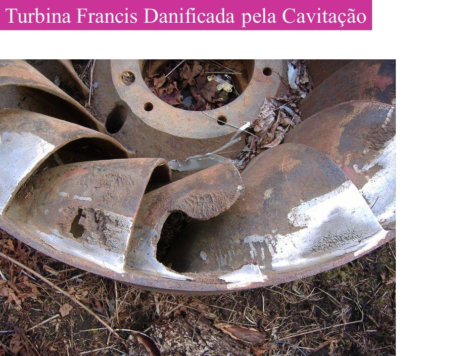 Turbina Francis Danificada pela Cavitação