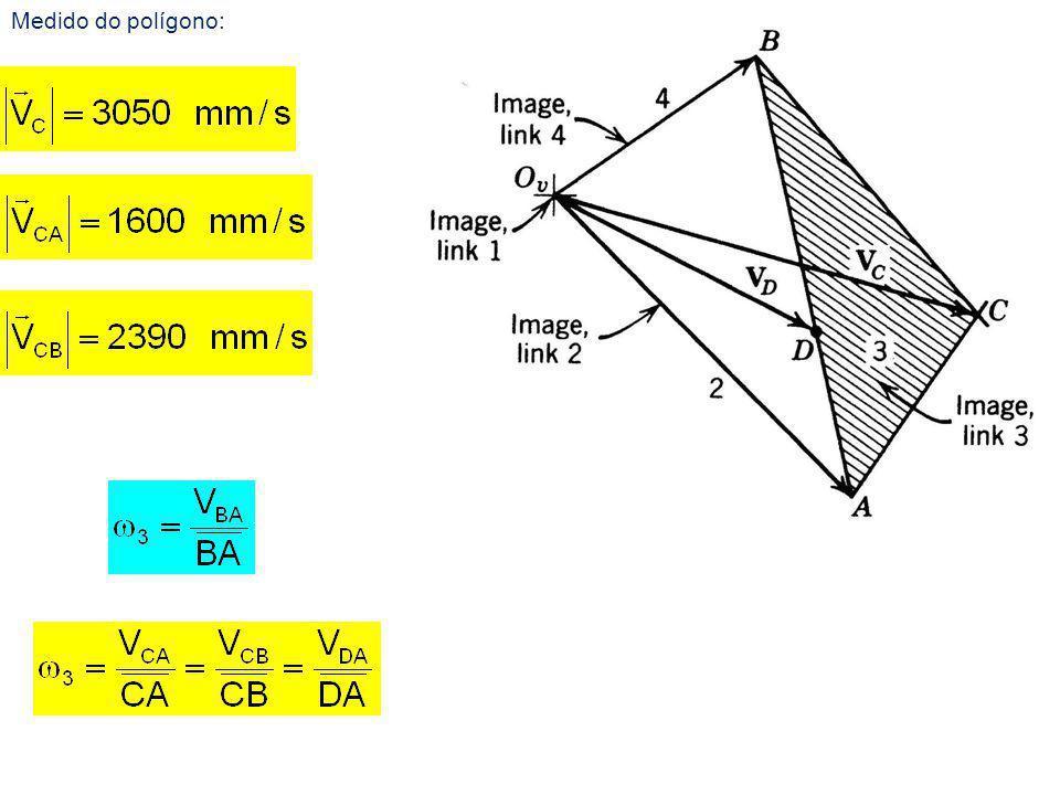 Medido do polígono: