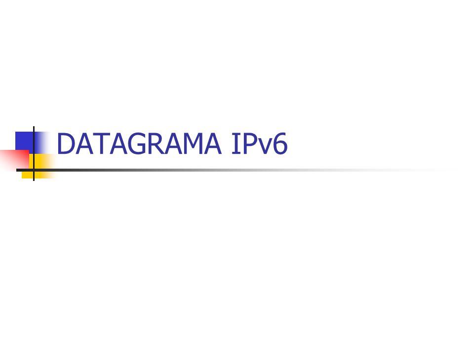 DATAGRAMA IPv6