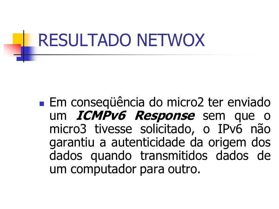RESULTADO NETWOX