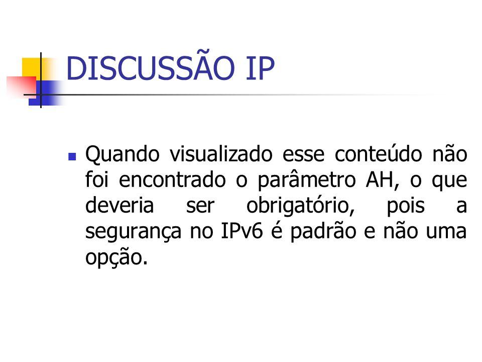 DISCUSSÃO IP