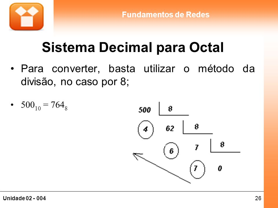 Sistema Decimal para Octal