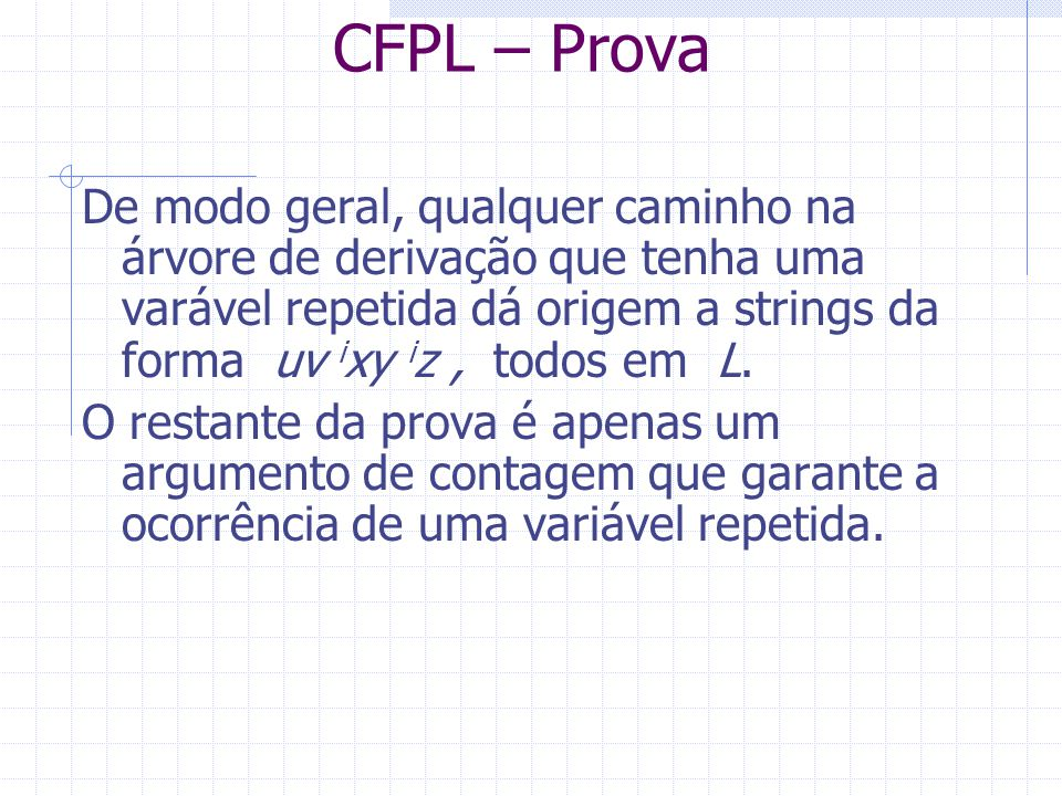CFPL – Prova