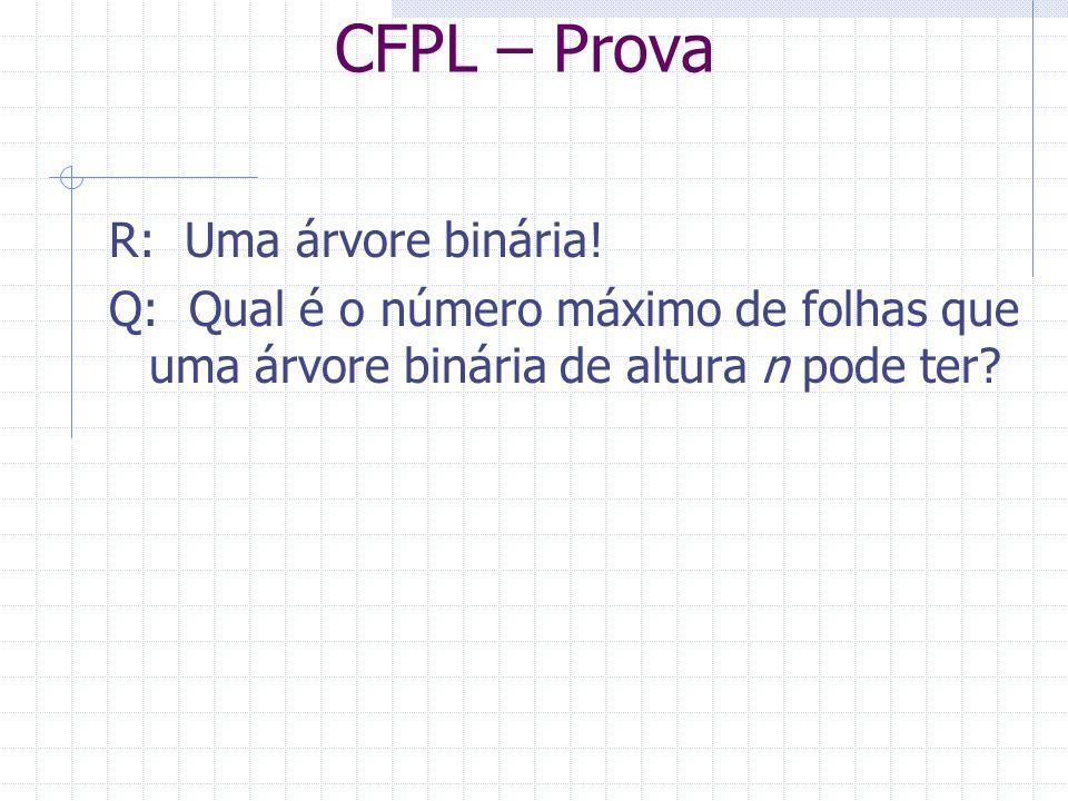 CFPL – Prova R: Uma árvore binária!