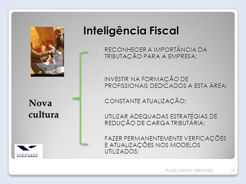 Inteligência Fiscal Nova cultura