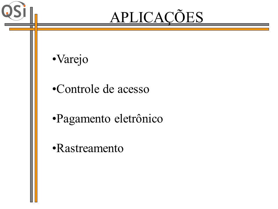 APLICAÇÕES Varejo Controle de acesso Pagamento eletrônico Rastreamento