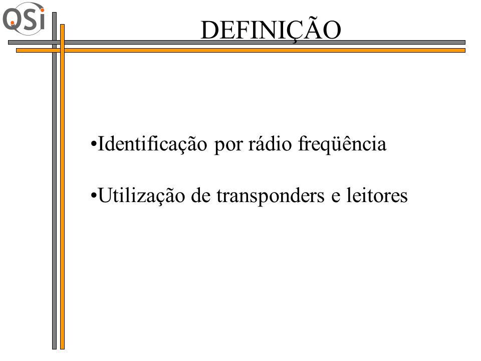 DEFINIÇÃO Identificação por rádio freqüência