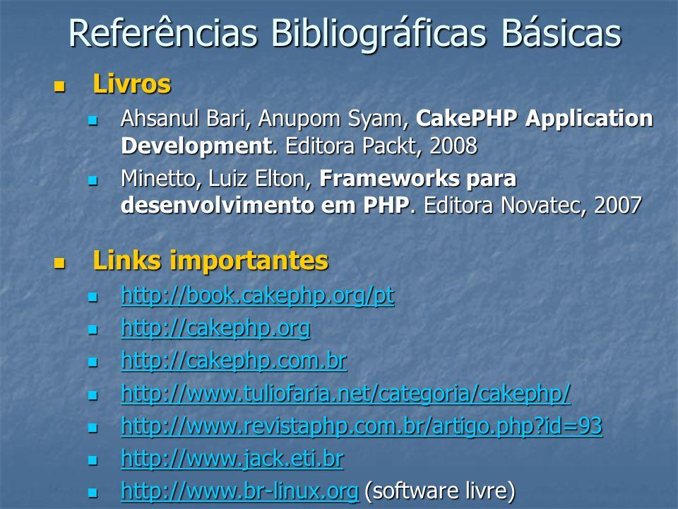 Referências Bibliográficas Básicas