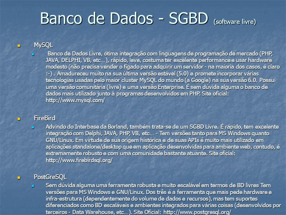 Banco de Dados - SGBD (software livre)