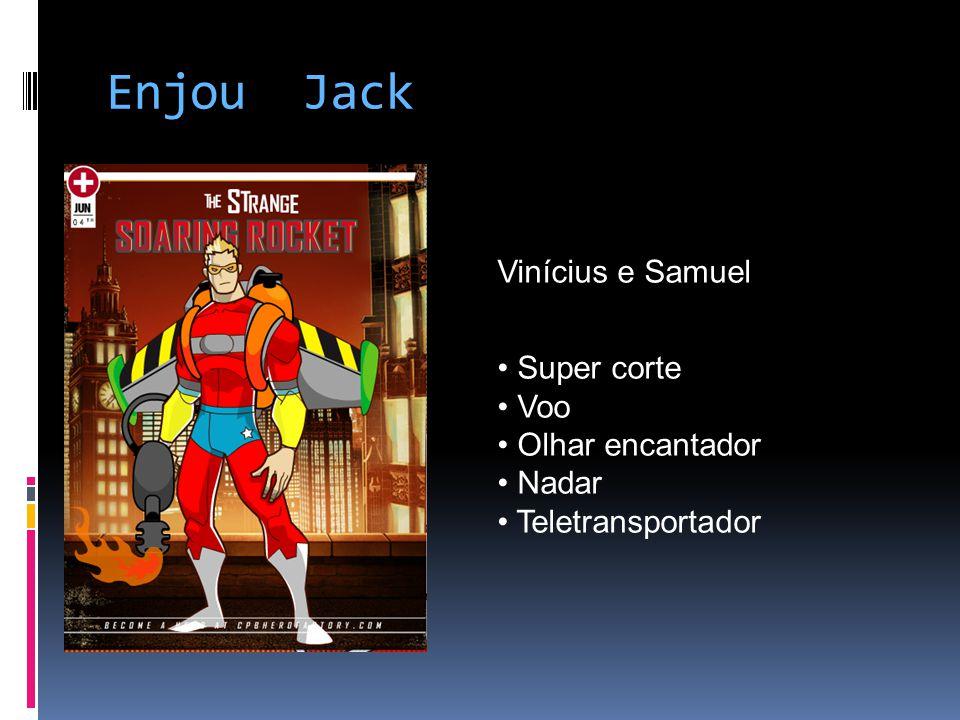 Enjou Jack Vinícius e Samuel Super corte Voo Olhar encantador Nadar