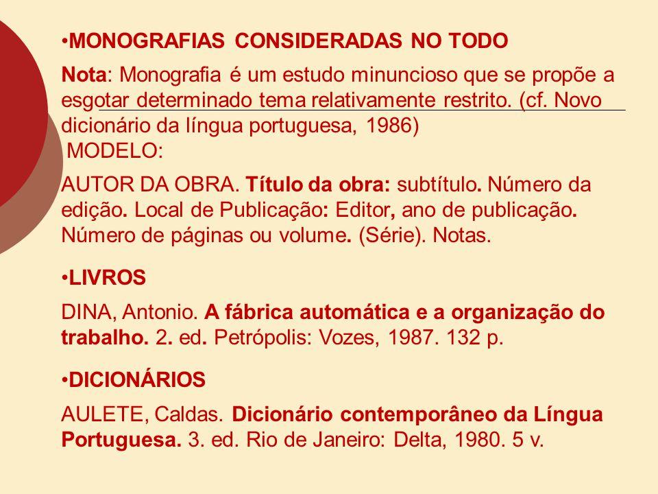 MONOGRAFIAS CONSIDERADAS NO TODO
