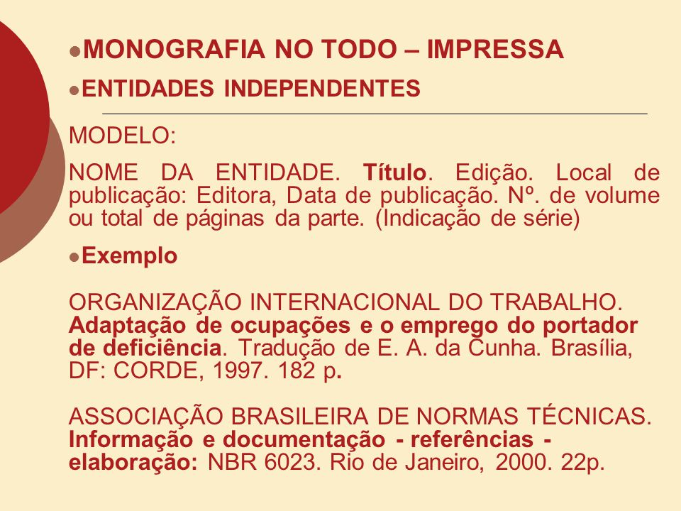 MONOGRAFIA NO TODO – IMPRESSA