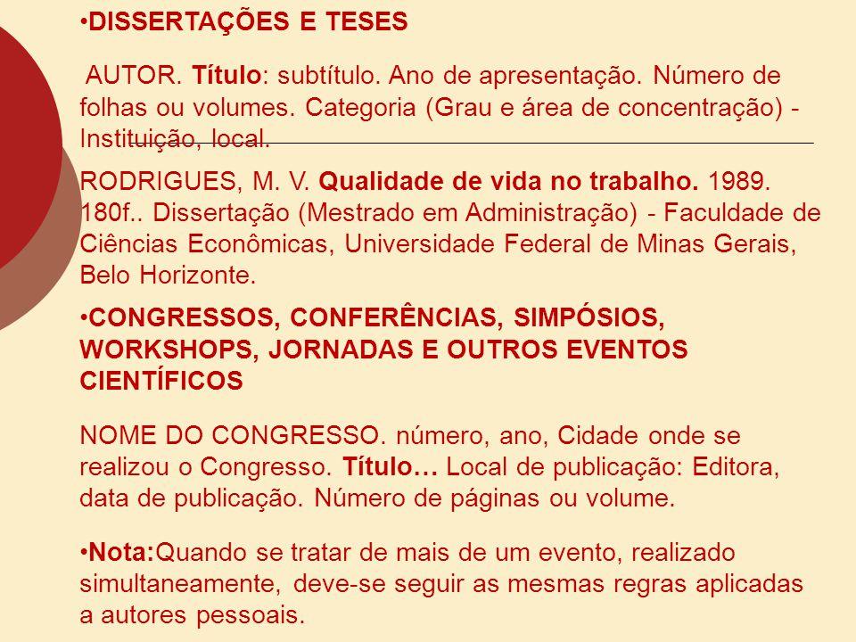 DISSERTAÇÕES E TESES