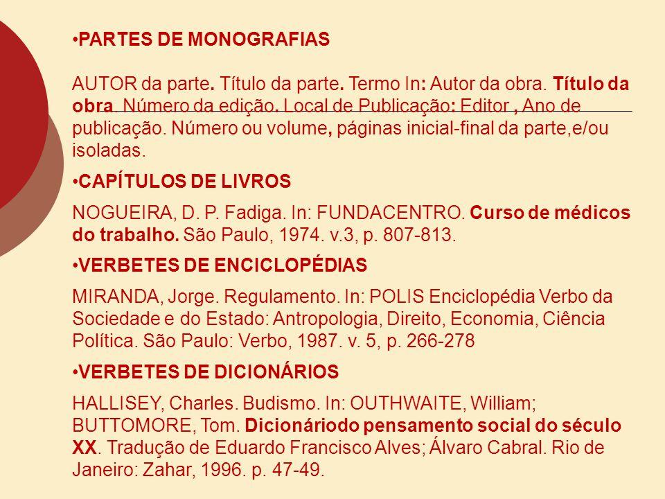 PARTES DE MONOGRAFIAS