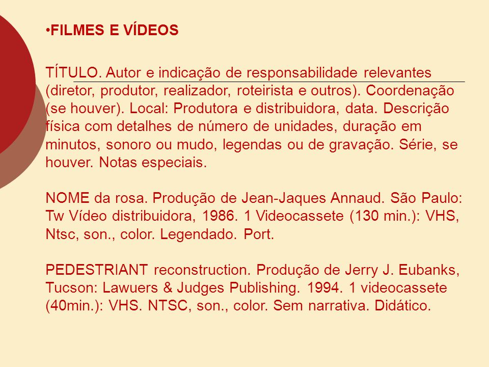 FILMES E VÍDEOS