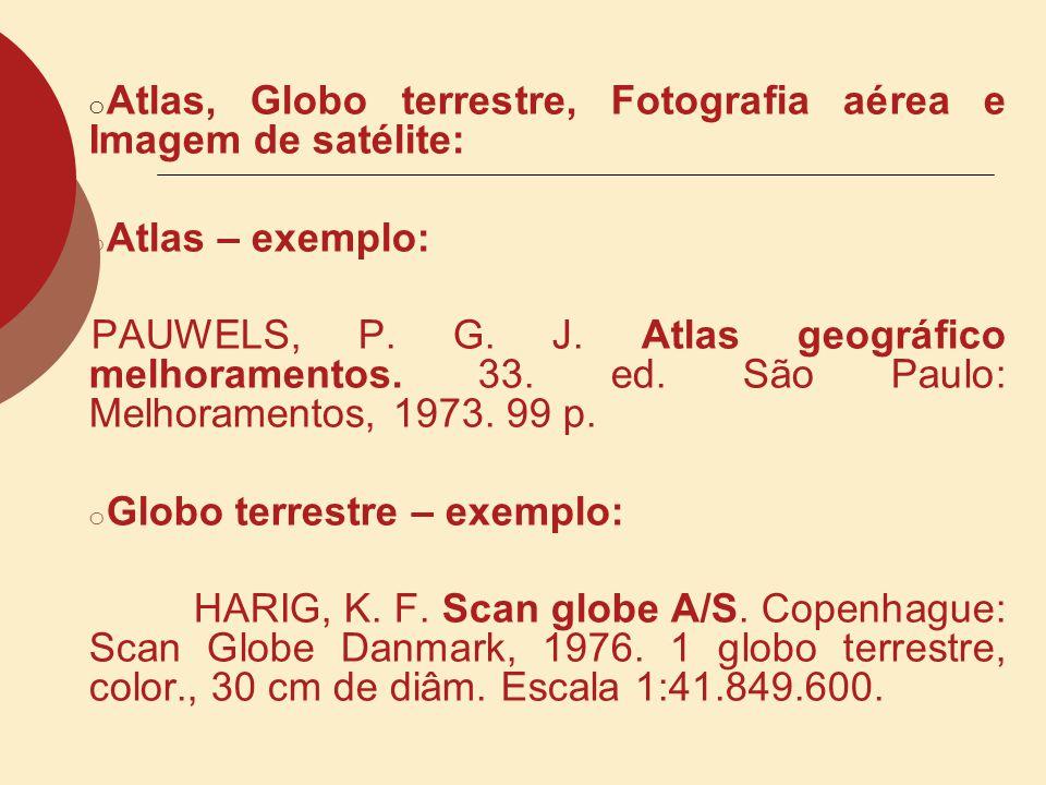 Atlas, Globo terrestre, Fotografia aérea e Imagem de satélite: