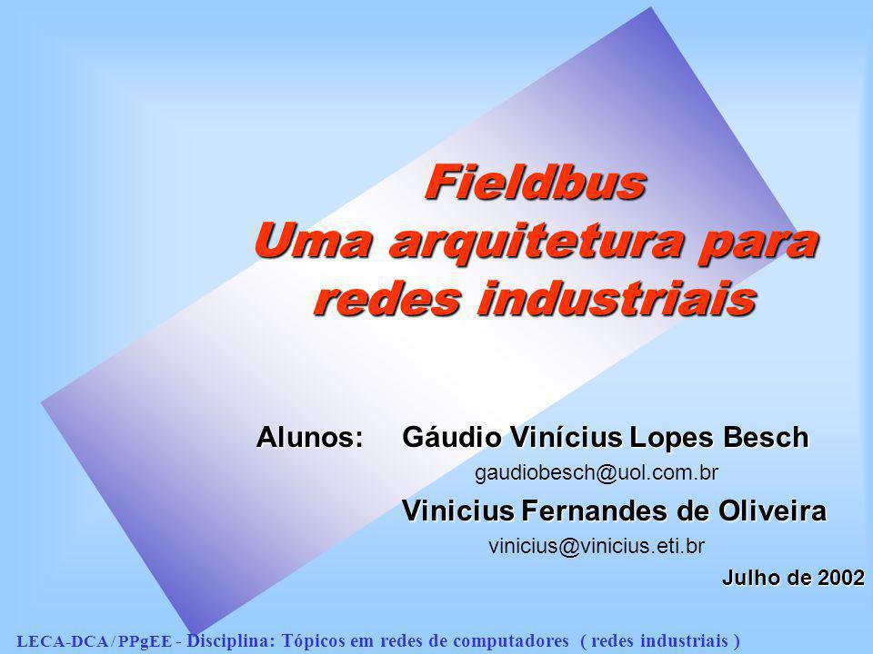 Fieldbus Uma arquitetura para redes industriais