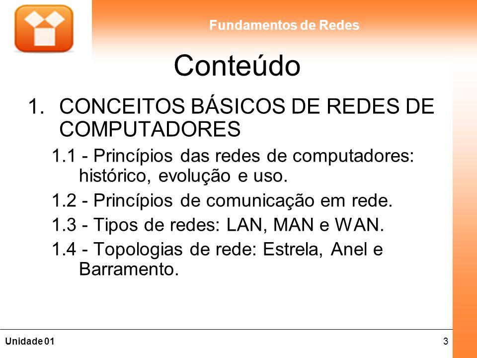 Conteúdo CONCEITOS BÁSICOS DE REDES DE COMPUTADORES