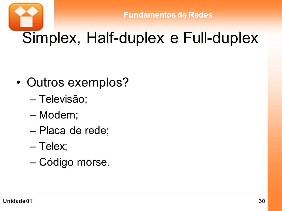 Simplex, Half-duplex e Full-duplex
