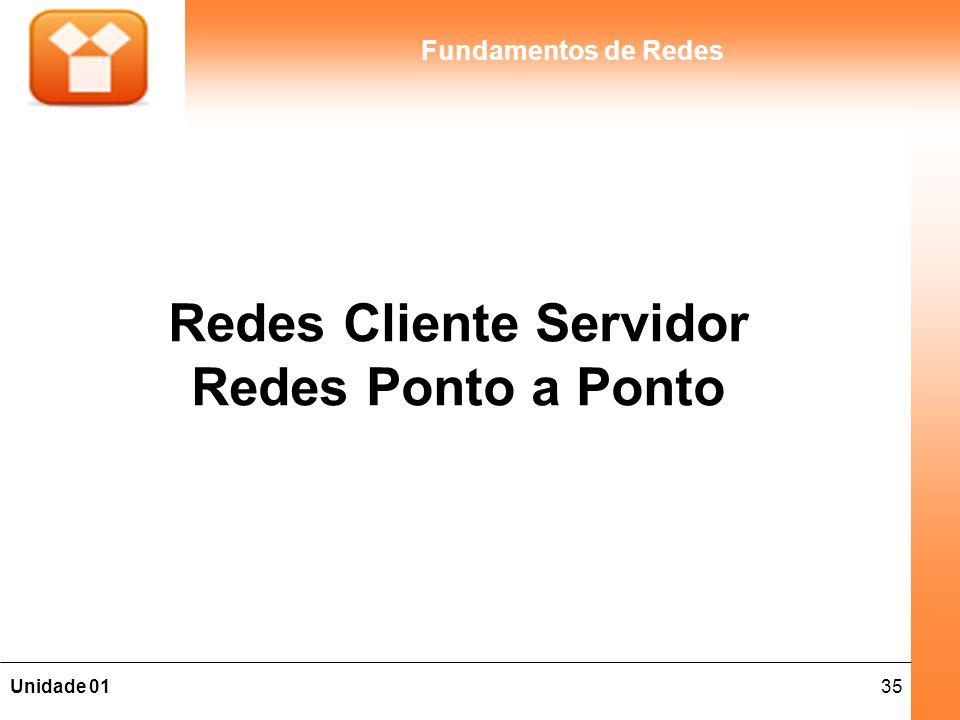 Redes Cliente Servidor Redes Ponto a Ponto